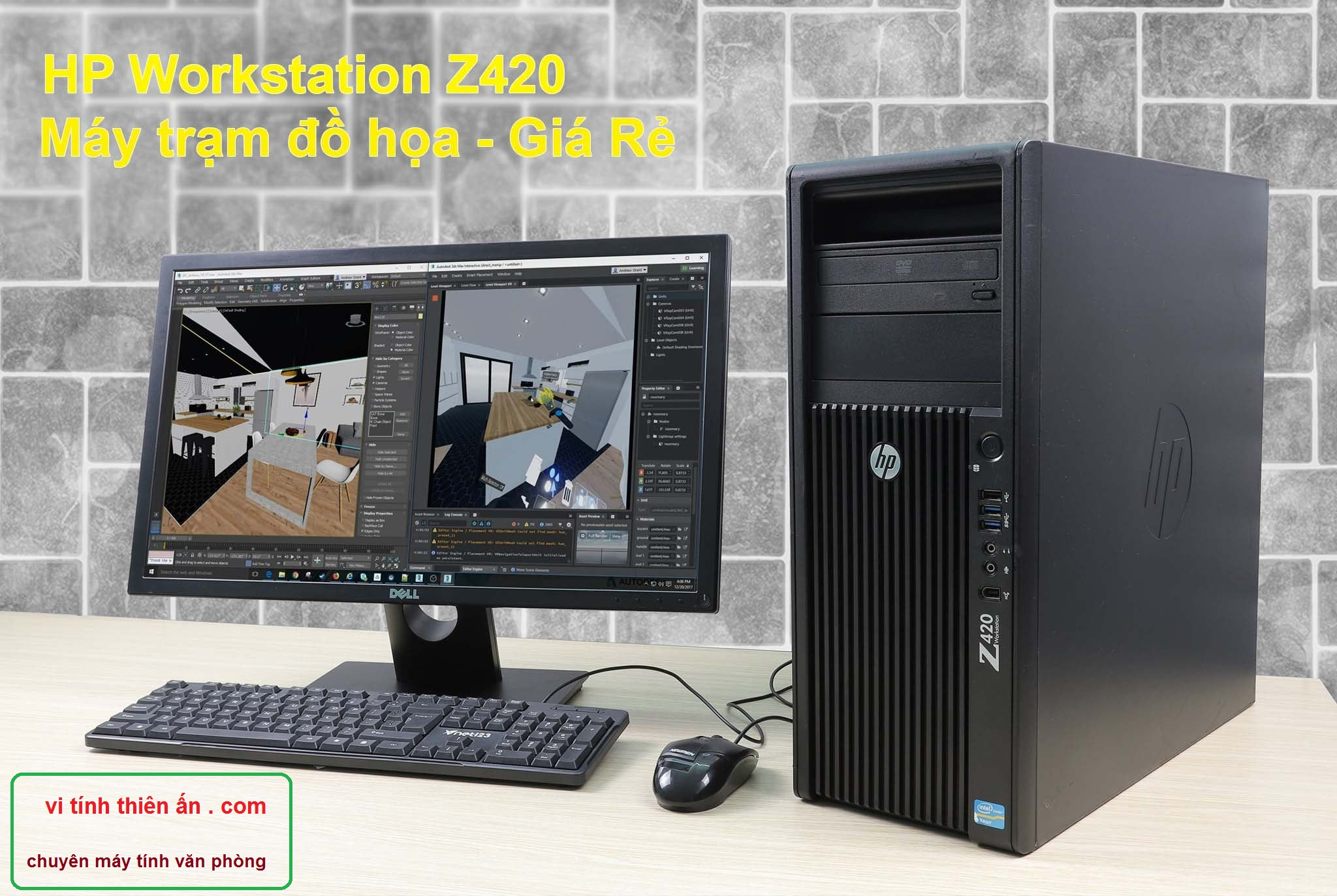 HP Workstation Z420 V2 Xeon E5-1620 V2/ RAM 16GB/ SSD 120GB + HDD 1TB/ VGA Quadro K2000