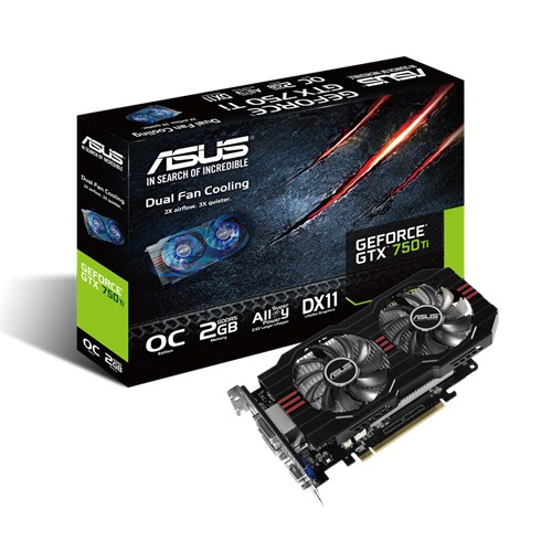 ASUS GTX 750Ti (2gb - D5 ) - 2 fan